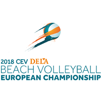 2018 Beach Volleyball European Championships Logo