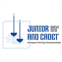 2018 Fencing Cadet And Junior European Championships Logo