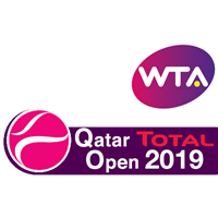2019 WTA Tennis Premier Tour Qatar Total Open Logo