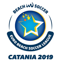 2019 Euro Beach Soccer League Logo