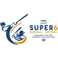 2018 Baseball Europe Super 6 Logo