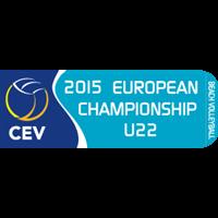 2015 U22 Beach Volleyball European Championship Logo