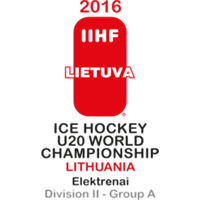 2016 IIHF World Junior Championships Division II A Logo