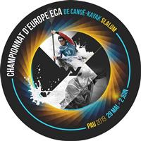 2019 European Canoe Slalom Championships Logo