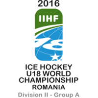 2016 Ice Hockey World U18 Championships Division II A Logo