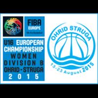 2015 FIBA Europe Under-16 Championship for Women Division B Logo