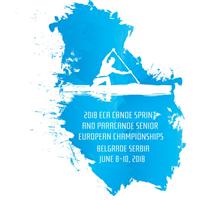 2018 European Canoe Sprint Championships Logo