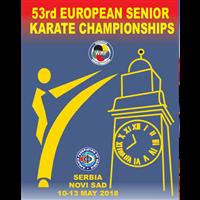 2018 European Karate Championships Logo