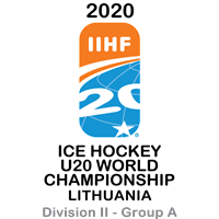 2020 Ice Hockey U20 World Championship Division II A Logo