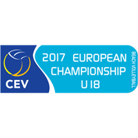 2017 U18 Beach Volleyball European Championship Logo