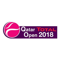 2018 WTA Tennis Premier Tour Qatar Total Open Logo
