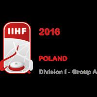 2016 Ice Hockey World Championship Division I A Logo
