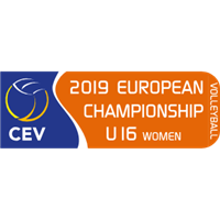 2019 European Volleyball Championship U16 Women Logo