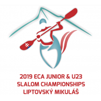 2019 European Canoe Slalom Junior and U23 Championships Logo