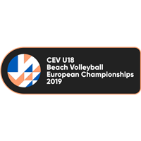 2019 U18 Beach Volleyball European Championship Logo