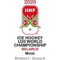2020 Ice Hockey U20 World Championship Division I A Logo