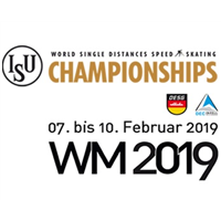 2019 World Single Distance Speed Skating Championships Logo