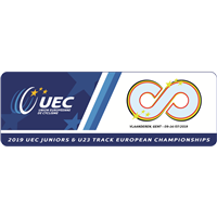 2019 European Track Cycling Junior Championships Logo