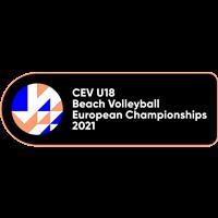 2021 U18 Beach Volleyball European Championship Logo