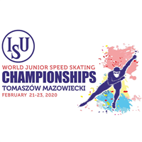 2020 World Junior Speed Skating Championships Logo