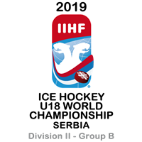 2019 Ice Hockey U18 World Championship Division II B Logo