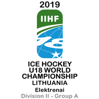 2019 Ice Hockey U18 World Championship Division II A Logo