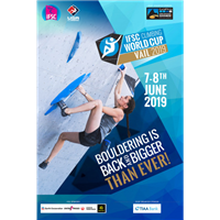 2019 IFSC Climbing World Cup Logo