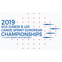 2019 European Canoe Sprint Junior and U23 Championships Logo
