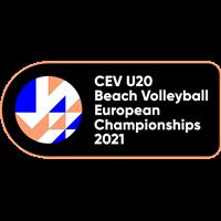 2021 U20 Beach Volleyball European Championship Logo