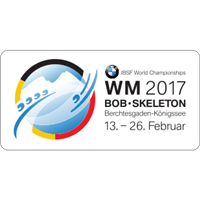 2017 World Bobsleigh Championships 4-Man Logo