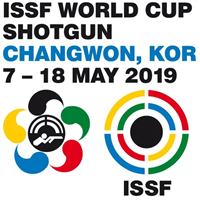 2019 ISSF Shooting World Cup Shotgun Logo