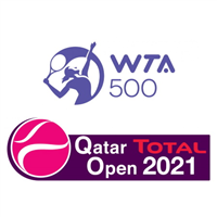 2021 WTA Tour - Qatar Total Open Logo