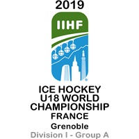 2019 Ice Hockey U18 World Championship Division I A Logo